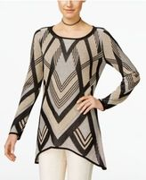 INC International Concepts Handkerchief-Hem Tunic Sweater, Only at Macy's