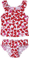 Joe Fresh Toddler Girls' Ruffle Swimsuit, Red (Size 5)