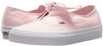 Vans Authentic Knotted ((Canvas) Chalk Pink/True White) Skate Shoes