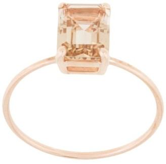 Natalie Marie 9kt rose gold champagne quartz ring
