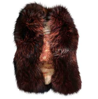 Bally Burgundy Fox Jacket for Women