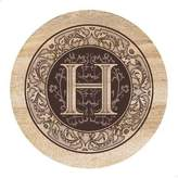 "Thirstystone Tirstystone Monogram "" Sandstone Coaster Set Of 4"""