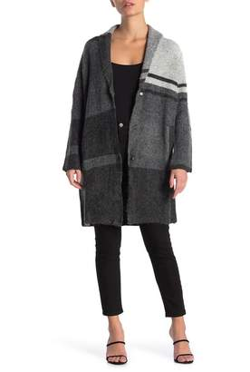 Joseph A Shawl Collar Colorblock Cardigan (Petite)