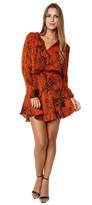 Karina Grimaldi Pillar Mini Dress Rust Snake