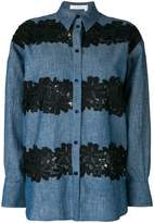 See by Chloe floral crocheted pattern shirt