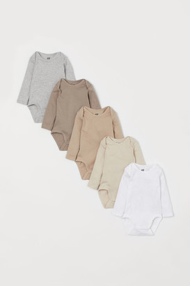 H&M 5-pack Bodysuits - Brown