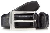 J By Jasper Conran Designer Black Leather Faux Lizard Skin Belt