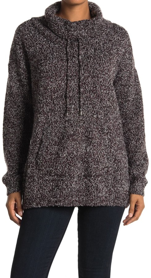 Cyrus Speckled Cowl Neck Sweater