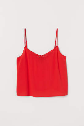 H&M Scallop-trimmed strappy top