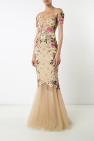 Marchesa Short Sleeve Gown