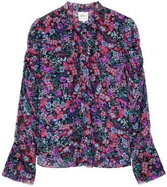 MISA Garance Floral-print Chiffon Blouse