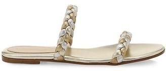 Gianvito Rossi Braided Metallic Leather Sandals