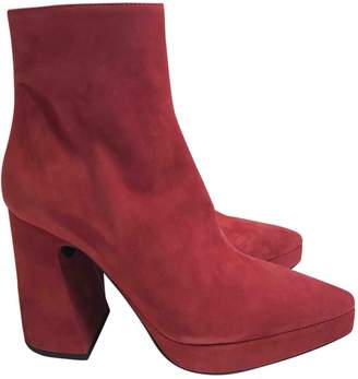 Proenza Schouler \N Red Suede Ankle boots