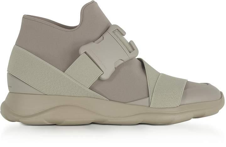 Christopher Kane Putty Gray Neoprene High Top Women's Sneakers