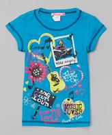 Blue 'Music Is Love' Tee - Girls