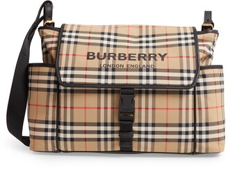 Burberry Flap Check Diaper Bag
