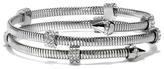 Vince Camuto Silvertone Jeweled Coil Bracelet