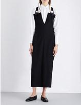 Yohji Yamamoto V-neck wool overall dress