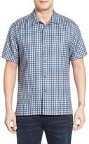 Tommy Bahama 'Squared Up' Regular Fit Windowpane Short Sleeve Sport Shirt