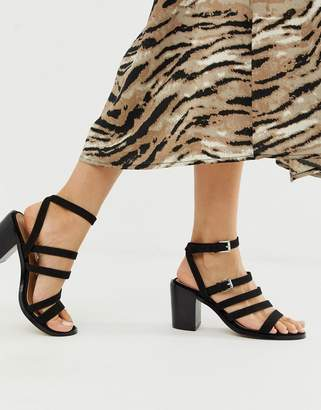 Asos Design DESIGN Tycoon heeled sandals