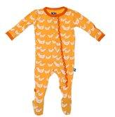 Kickee Pants Baby Girl's Muffin Ruffle Footie - Fuzzy Bee Ducks