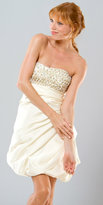 Mignon Embellished Short Ivory Dresses