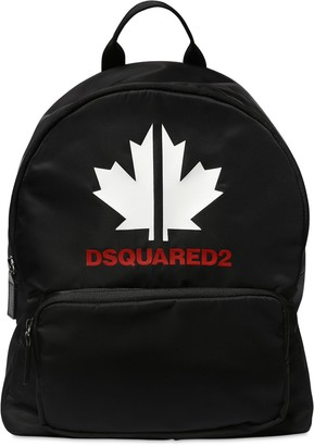 DSQUARED2 Logo Printed Nylon Backpacks