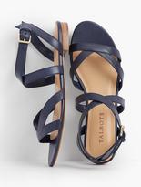 Talbots Keri Crisscross Ankle-Strap Sandals