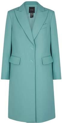 Smythe Turquoise Cotton Coat