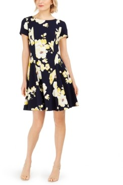 Jessica Howard Petite Floral-Print A-Line Dress