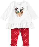 Starting Out Baby Girls 12-24 Months Christmas Reindeer Top & Dotted Leggings Set