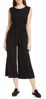 Eileen Fisher Sleeveless Crop Wide Leg Jumpsuit