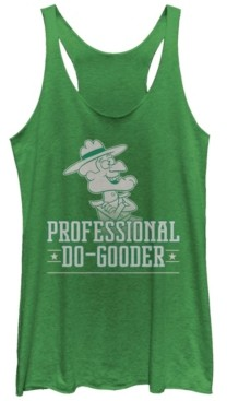 Fifth Sun Rocky and Bullwinkle Dudley Do Gooder Tri-Blend Racer Back Tank