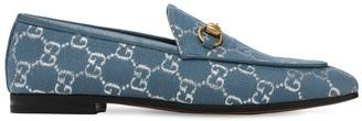 Gucci 10mm New Jordan Lame Jacquard Loafers