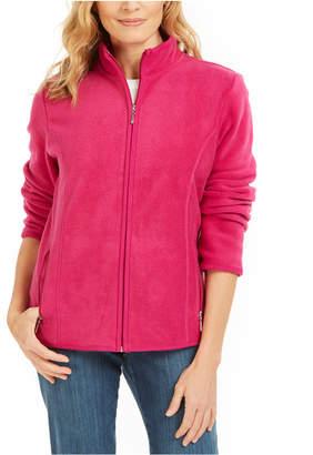 Karen Scott Sport Zip-Up Zeroproof Fleece Jacket