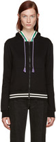 Raf Simons Black Striped Zip Hoodie