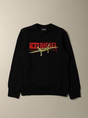 Diesel Crew Neck Cotton Sweatshirt With Logo