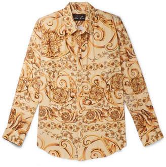 Martine Rose Oversized Printed Plisse-Crepe Shirt