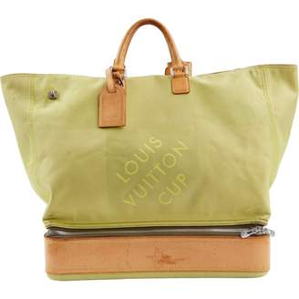 Louis Vuitton Vintage Green Cloth Handbag