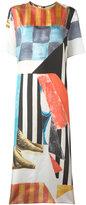 Joseph geometric print midi dress - women - Silk - 40