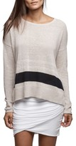 James Perse Women's Stripe Oversize Silk Blend Sweater
