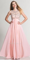 Dave and Johnny Keyhole Crystallized Prom Gown