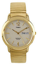 Timex Men's Watch with Goldtone Expansion Bandand White Dial