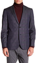 Brooks Brothers Notch Lapel Two Button Blue Print Jacket