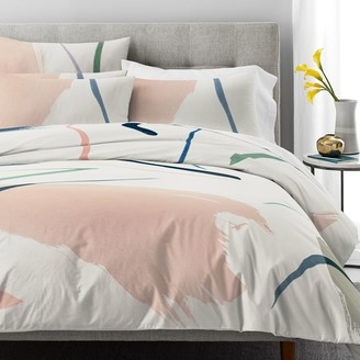 west elm Organic Percale Watercolor Fragments Duvet Cover & Shams