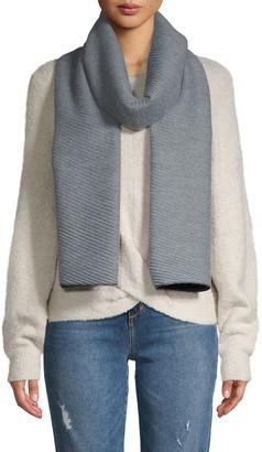 Calvin Klein Pleated Double-Faced Blanket Scarf