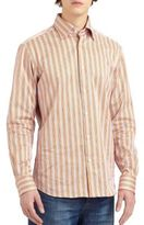 Saks Fifth Avenue Collection Sateen Bengal Striped Sportshirt