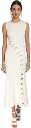 Alexander McQueen Knit Long Dress W/ Eyelets