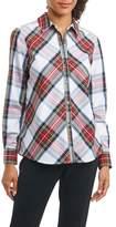 Foxcroft Women's Tina In Stewart Tartan Shirt