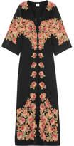 Vilshenko Bolce Floral-print Silk Dress - Black